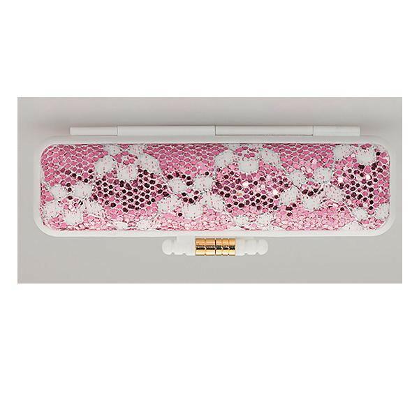 印鑑ケース PCきらめきラメケース 12×60用 花ピンク IB-PC01「NET Asahi」