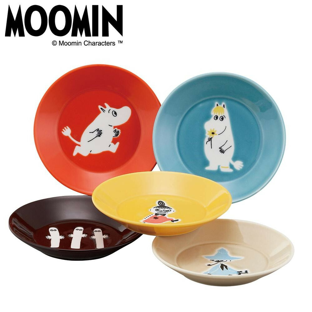 MOOMIN ムーミン ONE BY ONE ファイブプレートセット MM1300-57「通販百貨 Happy Puppy」