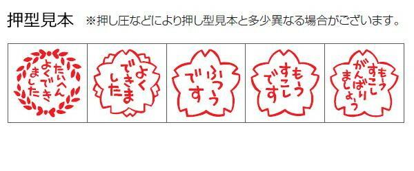 サンビー ティーチャースタンプゴム印(5本組) SS-037「NET Asahi」