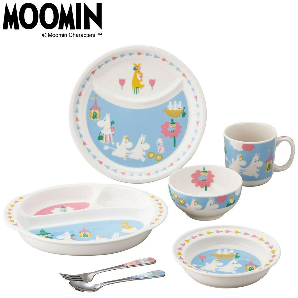 MOOMIN ムーミン ベビーキッズ 7ピースセット(ギフト箱入) MM1200-116「通販百貨 Happy Puppy」