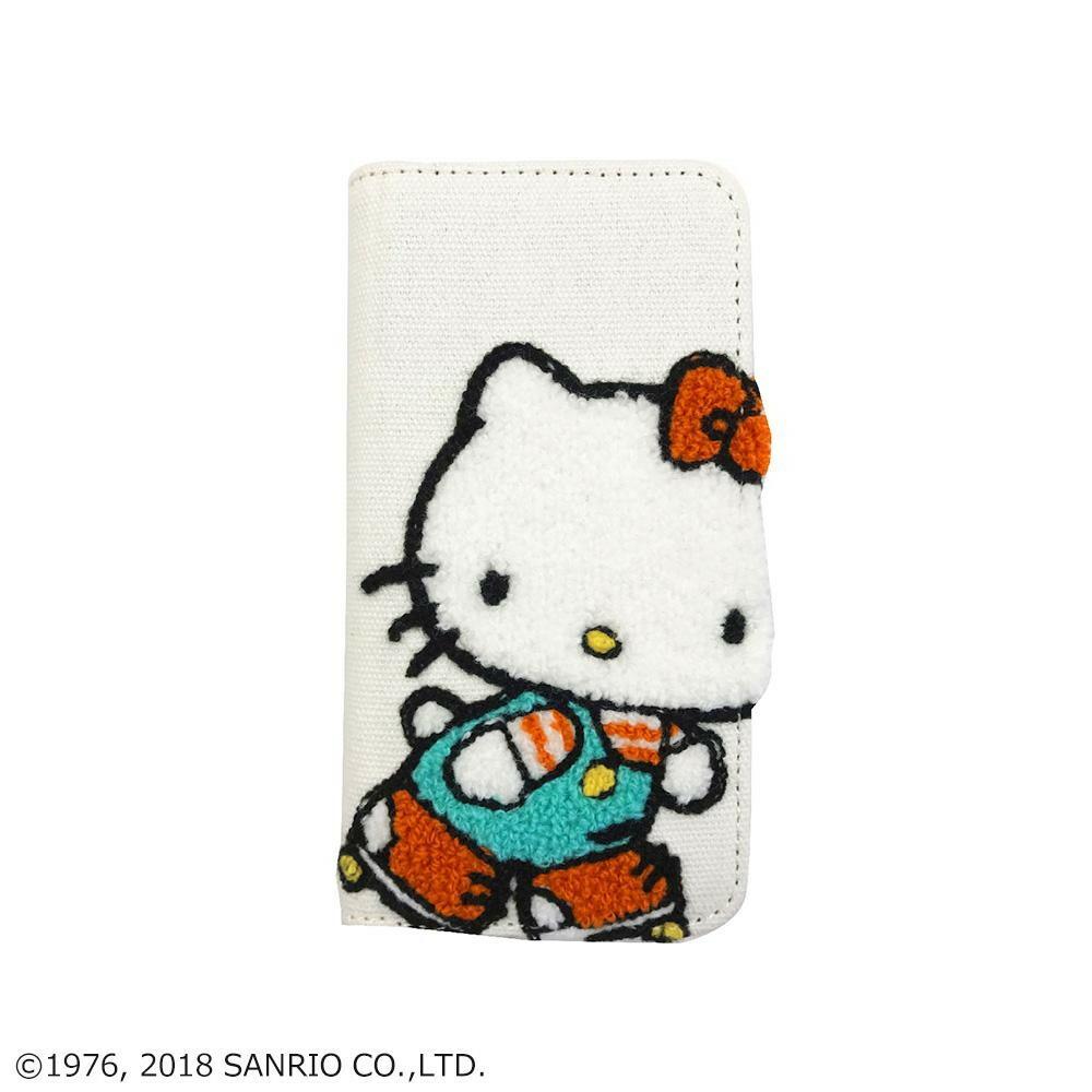 ハローキティ iPhoneX対応 刺繍フリップカバー Aタイプ・SAN-778A「通販百貨 Happy Puppy」