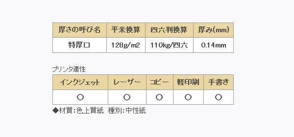 長門屋商店 カラーペーパー B4 特厚口 空 500枚 ナ-2462「NET Asahi」