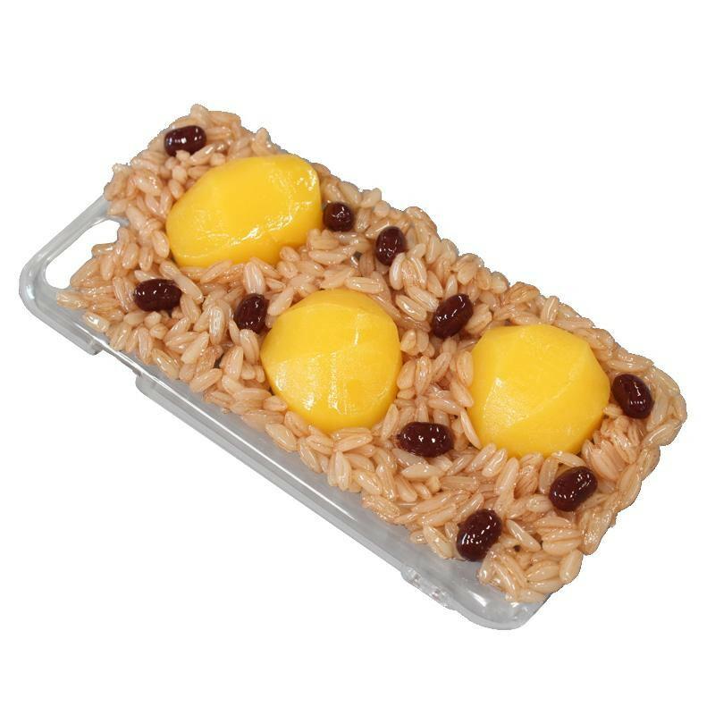 日本職人が作る 食品サンプル iPhone7/8ケース 赤飯 IP-719「通販百貨 Happy Puppy」