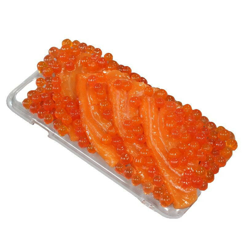 日本職人が作る 食品サンプル iPhone7/8ケース いくら・サーモン IP-721「通販百貨 Happy Puppy」