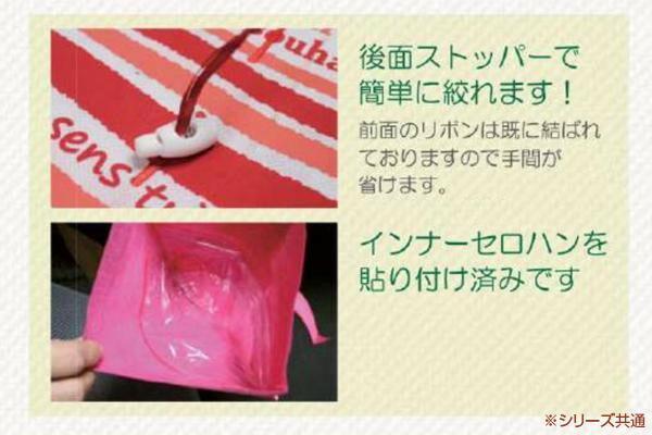 マッセ(MASSE) ワンタッチポーチ ストライプ M 1束(10枚入) ブラウン C-180「通販百貨 Happy Puppy」