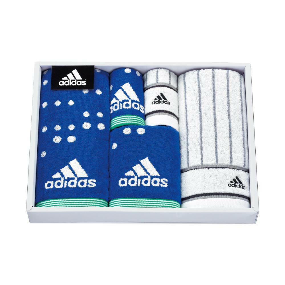 日繊商工 adidas アストラル タオルセット ブルー AD5071「通販百貨 Happy Puppy」