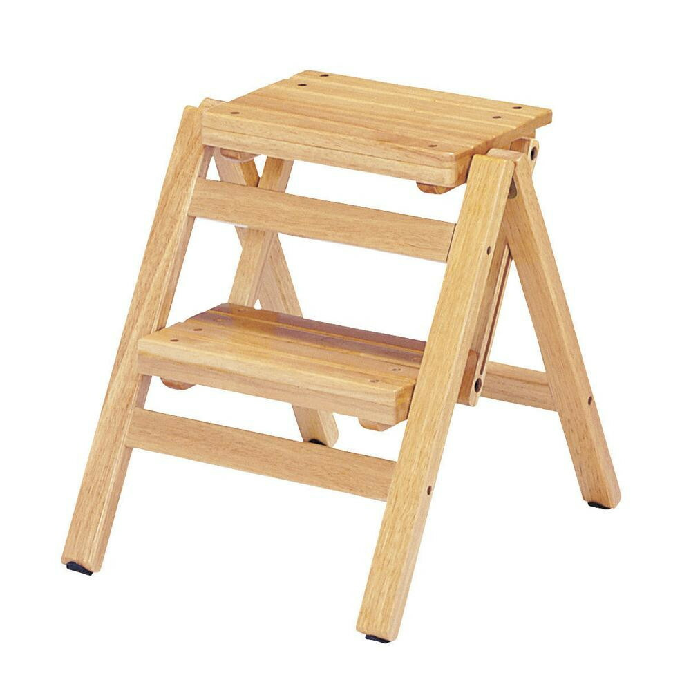 Tremendous Two Steps Of Folding Step Chairs Natural Fst 46 Na Ibusinesslaw Wood Chair Design Ideas Ibusinesslaworg