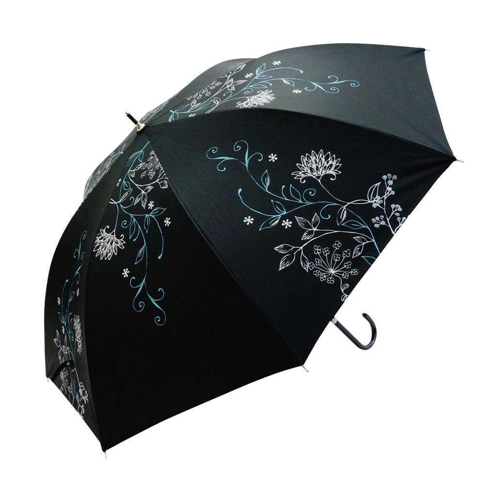 Fair mode 晴雨兼用長傘 58cm パルテール SJ-1810 ブラック「通販百貨 Happy Puppy」