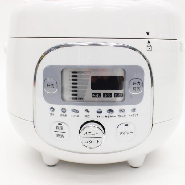 カンタン操作で本格調理! 電気圧力調理鍋 HR-P07W「通販百貨 Happy Puppy」
