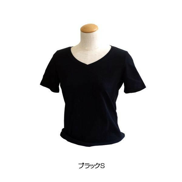 エンバランス VネックTシャツ ブラック S 41860「通販百貨 Happy Puppy」