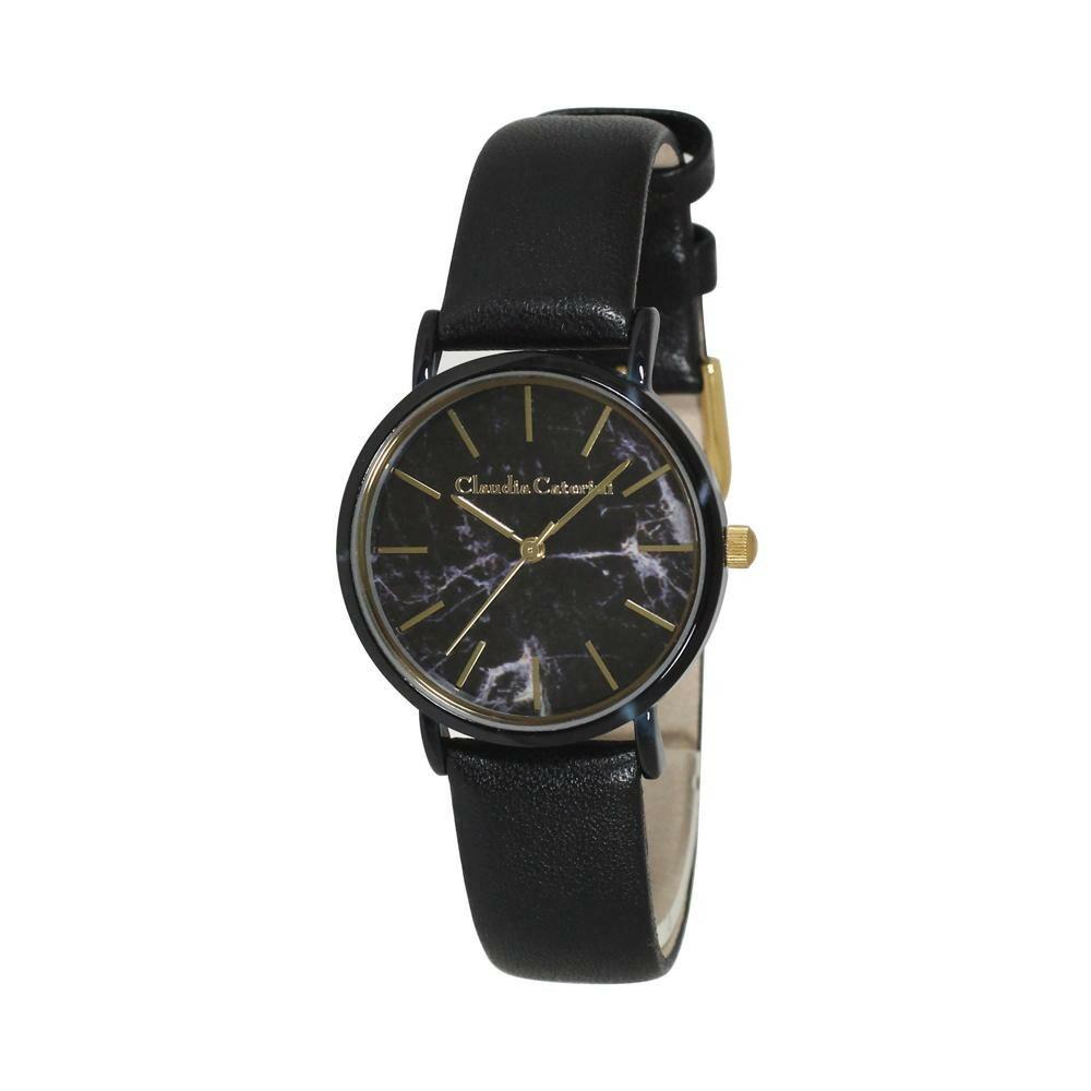 腕時計 クラウディア・カテリーニ ブラック CC-A122-BKM「通販百貨 Happy Puppy」