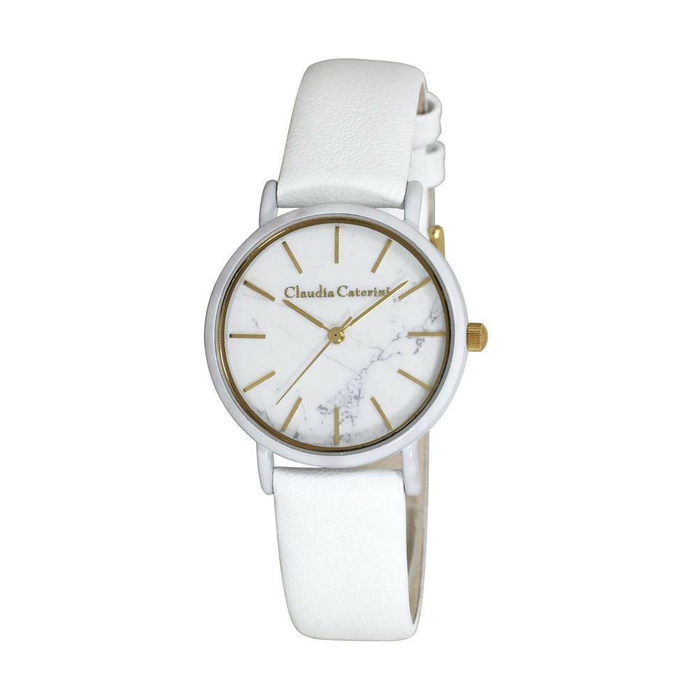 腕時計 クラウディア・カテリーニ ホワイト CC-A122-WTM「通販百貨 Happu Puppy」