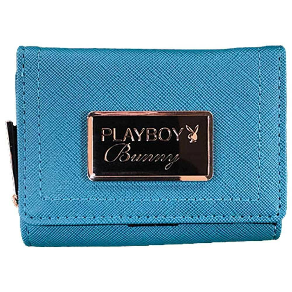 PLAYBOY レインボーファスナー コンパクトラウンド財布 BG PBMS-1472「通販百貨 Happy Puppy」