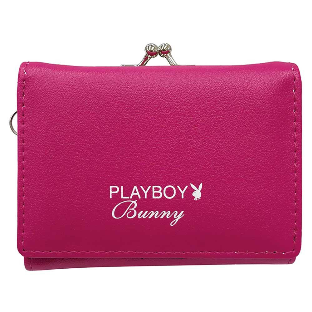 PLAYBOY メッシュポケット がまぐちコンパクト財布 PK PBMS-1563「通販百貨 Happy Puppy」