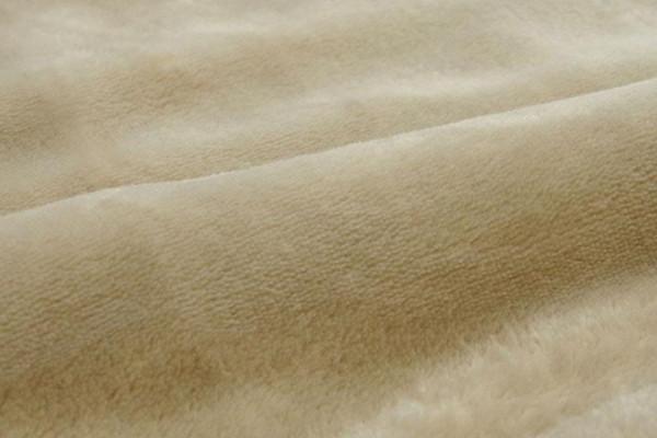 2枚合わせ毛布 『フランIT』 ベージュ ダブル 約180×200cm 9808584「通販百貨 Happy Puppy」