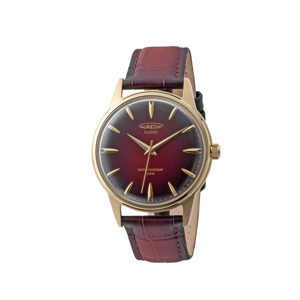 AUREOLE(オレオール) ドレス メンズ 腕時計 SW-618M-05「通販百貨 Happy Puppy」