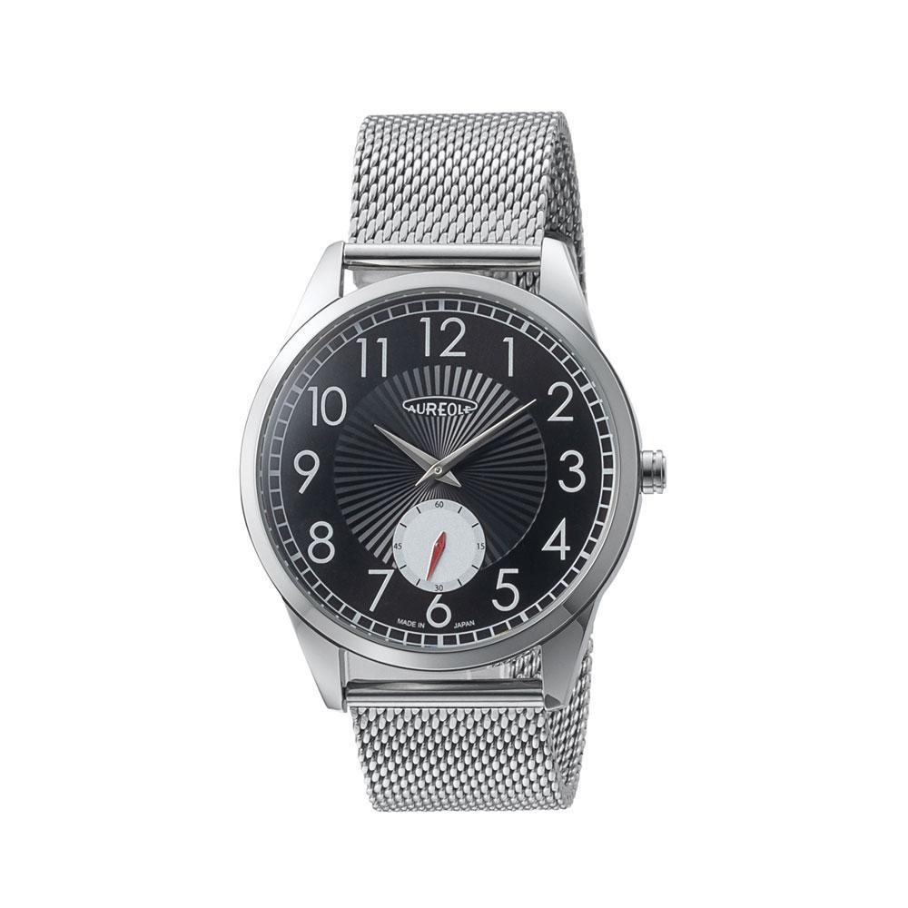 AUREOLE(オレオール) 日本製 メンズ 腕時計 SW-615M-A「通販百貨 Happy Puppy」