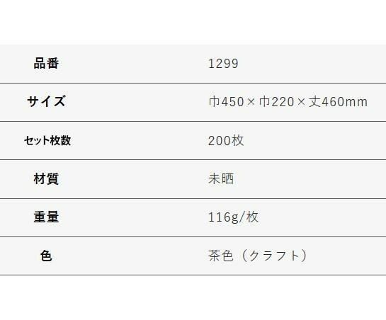 T-15W 自動紐手提袋 紙袋 紙丸紐タイプ 450×220×460mm 200枚 茶無地 1299「NET Asahi」