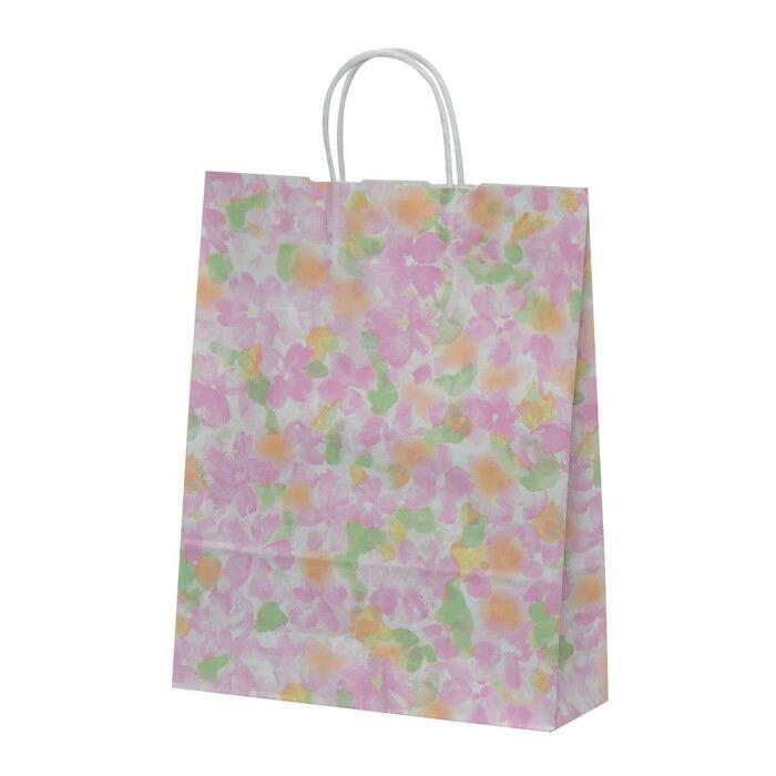 ハンディーバッグ テミニン 紙袋 180×100×150mm 100枚 ベビーピンク 1468「NET Asahi」