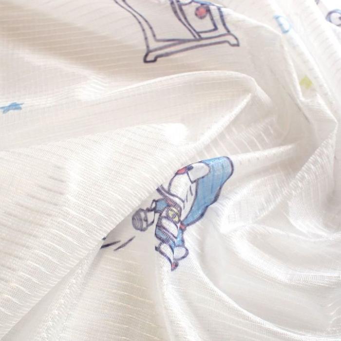 ドラえもん I'm Doraemon レースカーテン2枚セット 100×198cm SB-508-S「通販百貨 Happy Puppy」