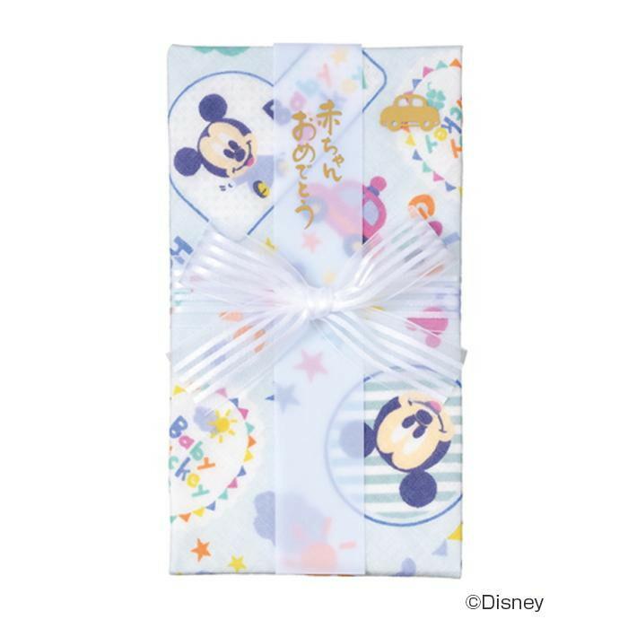 ディズニーガーゼハンカチ金封ミッキー 5セット キ-D10B「NET Asahi」