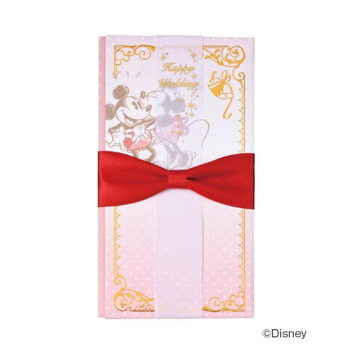 ディズニー金封 ミッキー&ミニー 赤 5セット キ-D312R「NET Asahi」