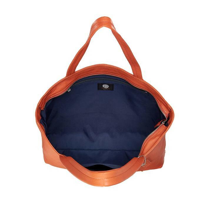 日本製 EVERWIN(エバウィン) 牛革トートバッグ A4サイズ対応 オレンジ 22109「通販百貨 Happy Puppy」