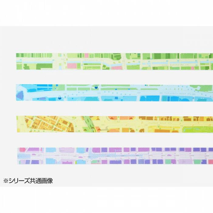 mati mati series 地図ステーショナリー マスキングテープ STREET MEMO TAPE/福岡・天神 10個セット 8BC038H0A「NET Asahi」