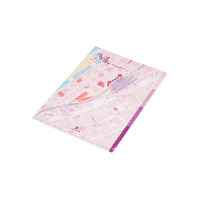 mati mati series 地図ステーショナリー クリアファイル 3LAYER mati FILE/丸[の内(東京) 10枚セット 8BC031H0A「NET Asahi」