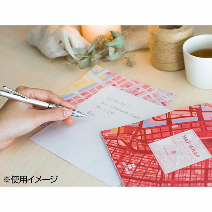 mati mati series 地図ステーショナリー ノートパッド MAP WRAP NOTEPAD/丸の内(東京) 10個セット 8BC039H0A「NET Asahi」