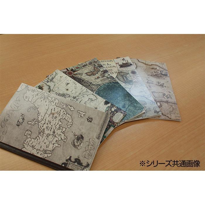 mati mati series 地図ステーショナリー 古地図ノートA5 ノスタルジック線画 10冊セット 8BC500H0A「NET Asahi」