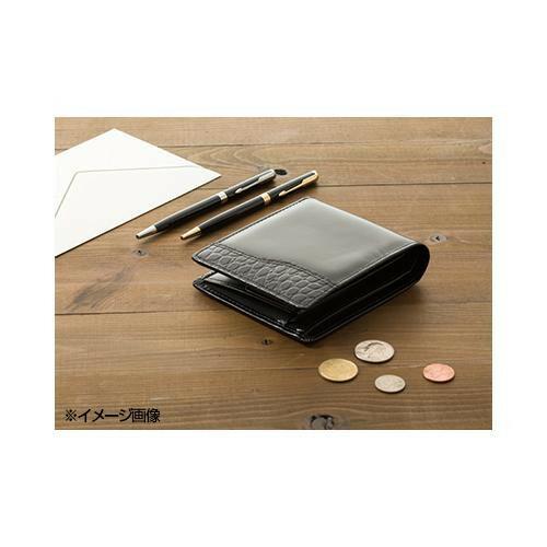 二つ折財布(ブラック) NR-101 198415-649「通販百貨 Happy Puppy」