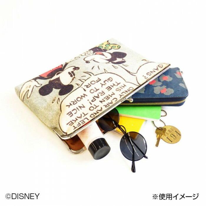 ACCOMMODE アコモデ Disney ディズニー/がまぐちクラッチ MM D-SW003「通販百貨 Happy Puppy」