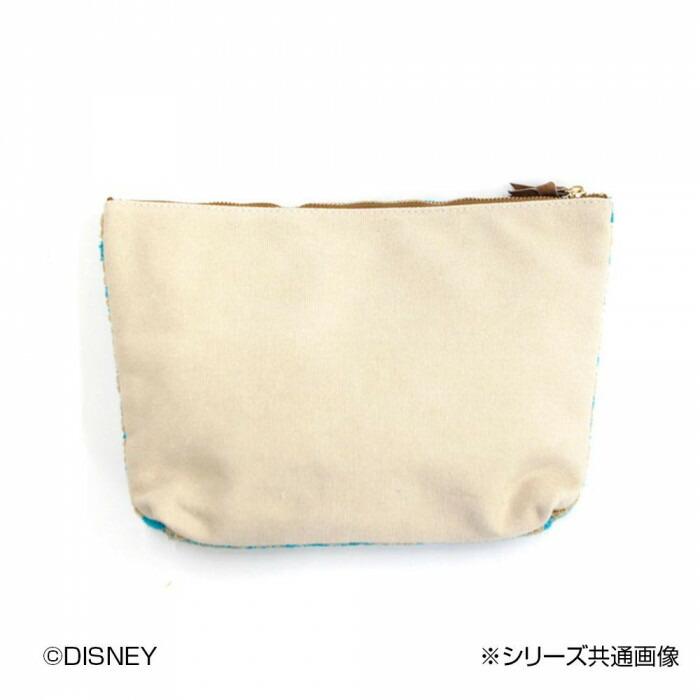 ACCOMMODE Disney ディズニー/パターン サガラビッグポーチ DOR D-YT461「通販百貨 Happy Puppy」