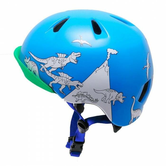 bern バーン ヘルメット キッズ NINO PAINT BLUE DINOSAUR W/MARKERS S-M BE-VJBBDCBV-12「通販百貨 Happy Puppy」