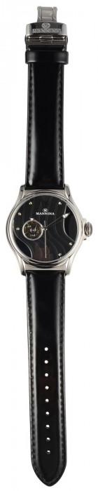 MANNINA(マンニーナ) 腕時計 MNN004-01 ブラック「通販百貨 Happy Puppy」