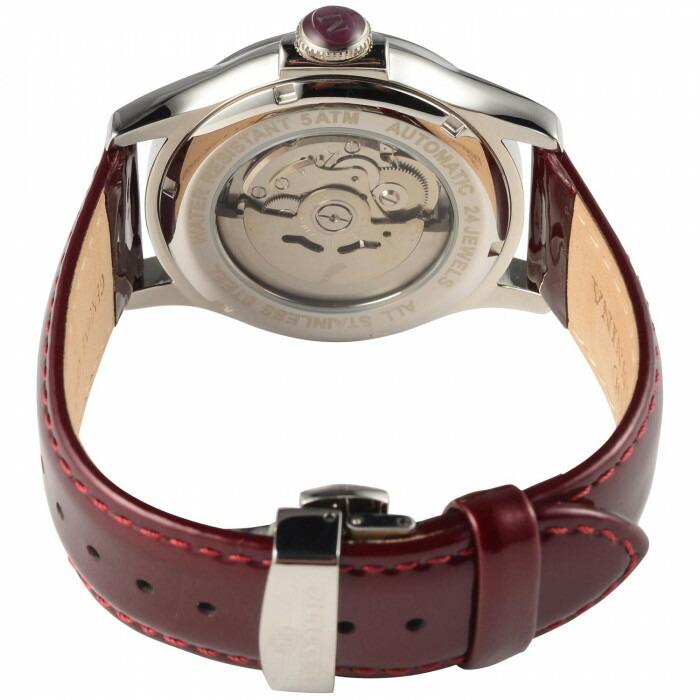 MANNINA(マンニーナ) 腕時計 MNN004-03 ワインレッド「通販百貨 Happy Puppy」