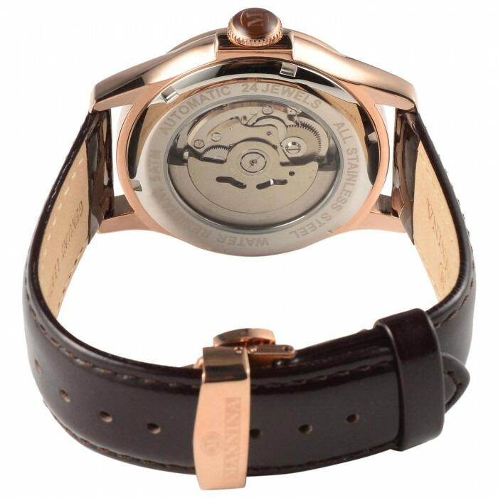 MANNINA(マンニーナ) 腕時計 MNN004-05 ダークブラウン「通販百貨 Happy Puppy」