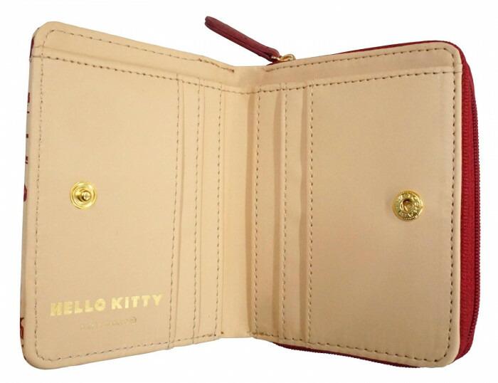 HelloKitty ハローキティ ラウンドミニ財布 赤 HK68-3「通販百貨 Happy Puppy」