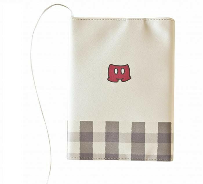 ディズニー雑貨 ワンポイント刺繍 ブックカバー ミッキー N1704「NET Asahi」