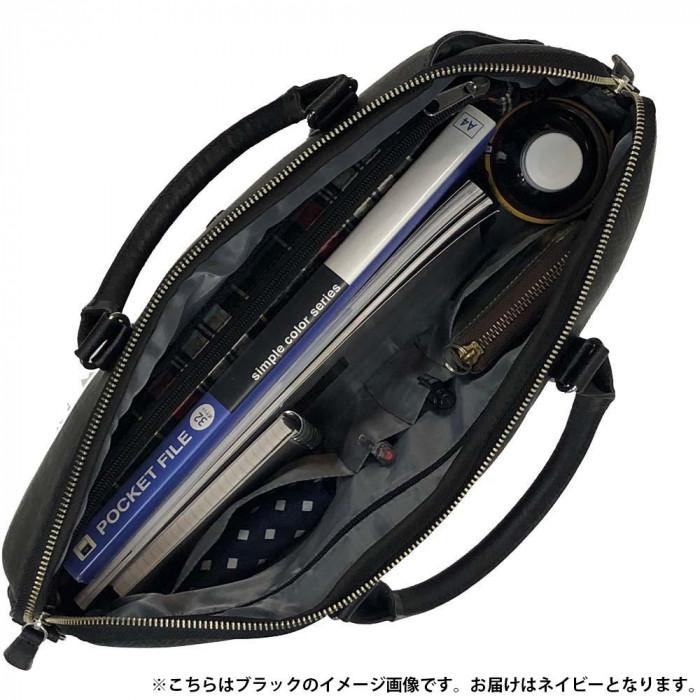 PIOMBO(ピオンボ) メンズビジネスバッグ ブリーフケース(大) 自立タイプ NV・ネイビー PGA-13510