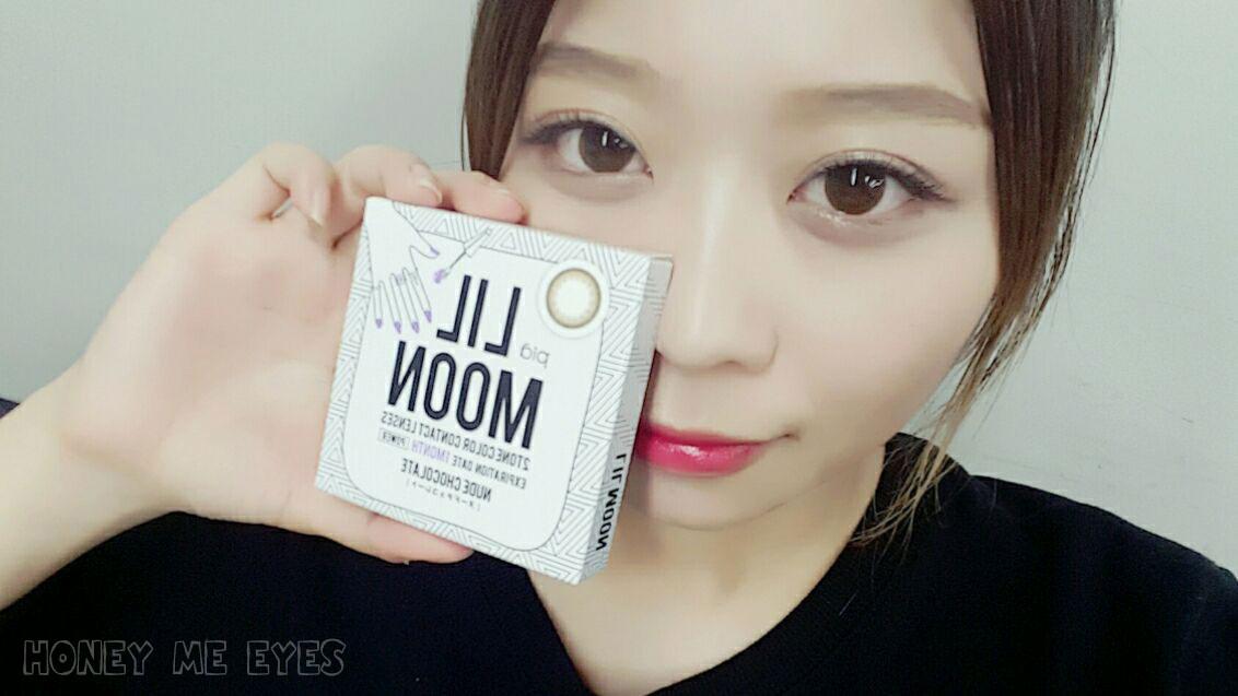 LILMOON リルムーン カンテリちゃんイメージモデルカラコン ヌードチョコレート カラコン レポ