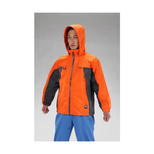 【送料無料】エスコ(esco) [L] 全天候対応透湿型ジャケット(オレンジ) EA996CE-7 1個