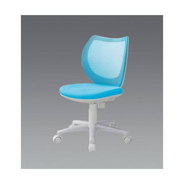 【送料無料】エスコ(esco) ビジネスチェアー(ブルー) EA956XA-272 1個
