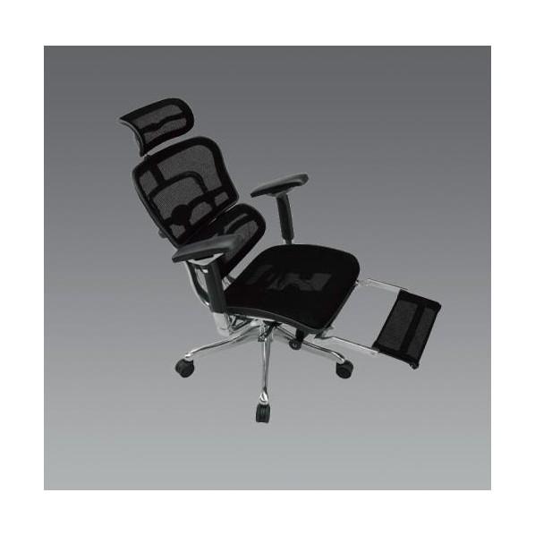 【送料無料】エスコ(esco) ビジネスチェアー(ブラック) EA956XA-291 1個
