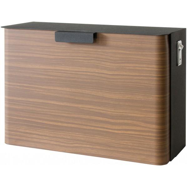 【送料無料】TEER(ティール) 木転写メールボックス ブラウン 幅35×奥行16.5×高さ25.5cm MB-1300M 1個 0
