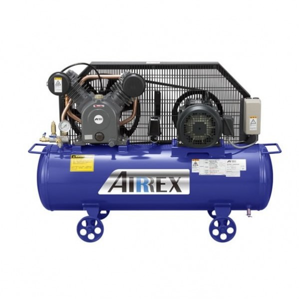 【送料無料】AIRREX 3馬力オイル式コンプレッサ 三相200V 50Hz 幅1150×奥行425×高さ770mm HXT22EG-10M5 1台 0