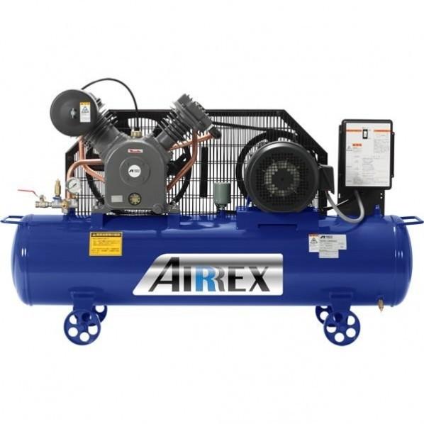 【送料無料】AIRREX 5馬力オイル式コンプレッサ 三相200V 60Hz 幅1400×奥行430×高さ840mm HXT37EG-10M6 1台 0