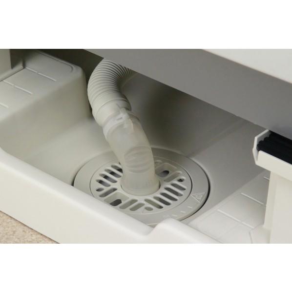 これカモ 洗濯機排水口接続トラップ用 エルボ バンド付き (洗濯機パントラップ 簡単取付)