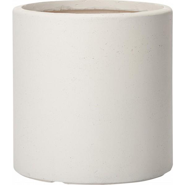 【送料無料】プランター アルファ シリンダープランター M ホワイト ホワイト Φ450(内寸395)×H440mm 652461110 1個